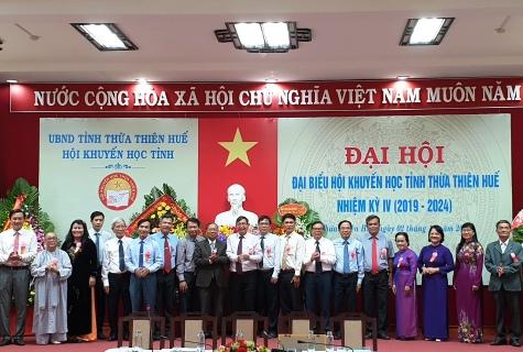 Ban Chấp hành Hội Khuyến học tỉnh Thừa Thiên Huế khóa IV, nhiệm kỳ 2019-2024 ra mắt tại Đại hội
