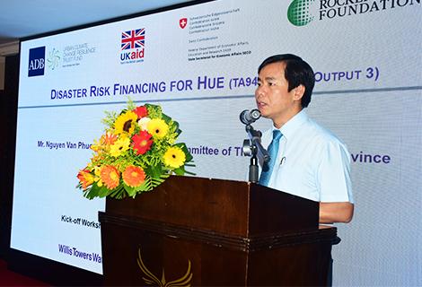 Phó Chủ tịch UBND tỉnh Nguyễn Văn Phương phát biểu tại lễ phát động