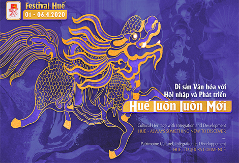 The official poster of Hue Festival 2020