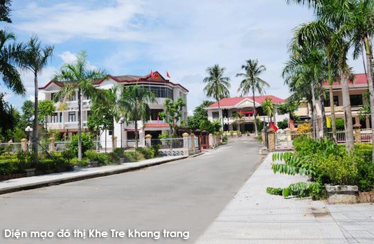Một góc thị trấn Khe Tre, huyện Nam Đông