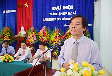 Phó Chủ tịch UBND tỉnh Nguyễn Văn Phương phát biểu chỉ đạo tại buổi lễ