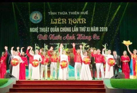 Ttiết mục của huyện Phong Điền tại liên hoan