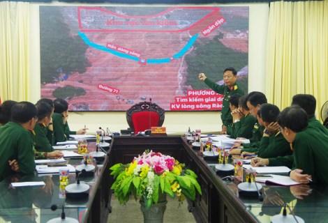 """Trung tá Phan Thắng, Báo cáo quyết tâm """"Ngăn đập nắn dòng chảy tìm kiếm nạn nhân"""""""