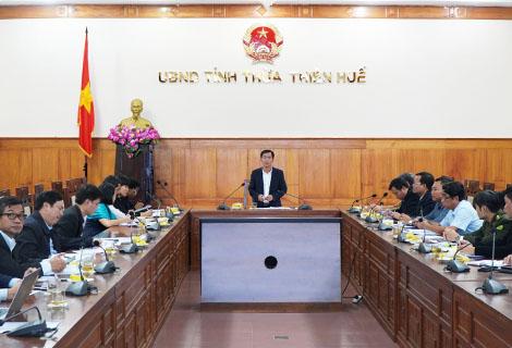 Phó Chủ tịch UBND tỉnh Nguyễn Văn Phương phát biểu tại buổi làm việc