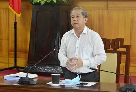 Chủ tịch UBND tỉnh Phan Ngọc Thọ phát biểu chỉ đạo tại cuộc họp