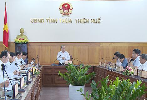 Chủ tịch UBND tỉnh Phan Ngọc Thọ phát biểu tại cuộc họp