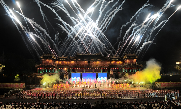 The opening ceremony of Hue Festival 2018