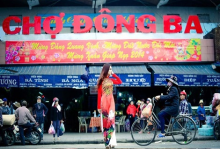 Dong Ba market is a bustling center of Hue city (Photo: internet)