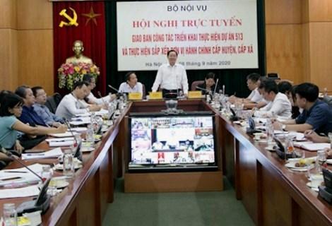 Bộ trưởng Bộ Nội vụ Lê Vĩnh Tân phát biểu tại Hội nghị