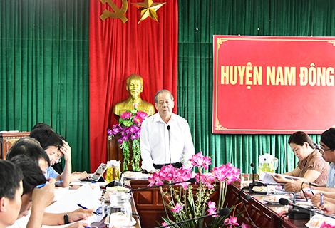 Chủ tịch UBND tỉnh Phan Ngọc Thọ phát biểu chỉ đạo tại buổi làm việc