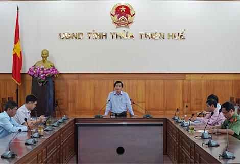 Phó Chủ tịch UBND tỉnh Nguyễn Văn Phương phát biểu chỉ đạo tại buổi họp