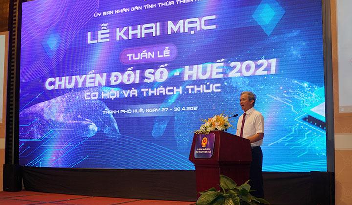 Bí thư Tỉnh ủy Lê Trường Lưu phát biểu tại buổi lễ