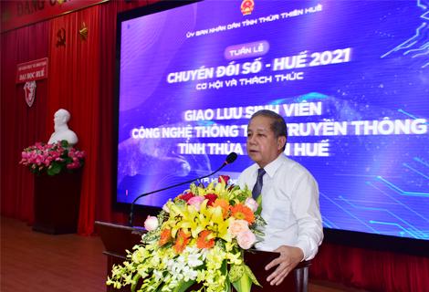 Chủ tịch UBND tỉnh Phan Ngọc Thọ phát biểu tại mở đầu chường trình
