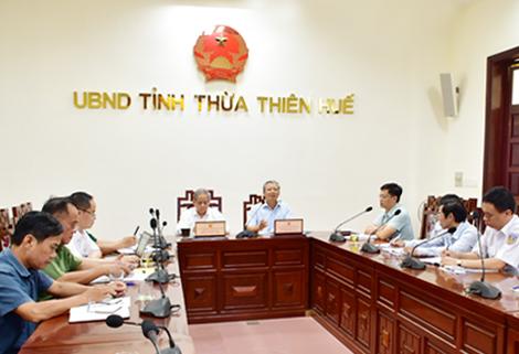 Bí thư Tỉnh ủy Lê Trương Lưu phát biểu chỉ đạo tại cuộc họp