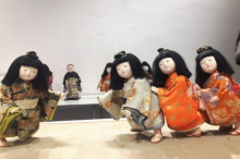 Traditional Japanese dolls displayed at the event