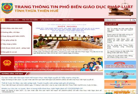 Trang thông tin điện tử phổ biến pháp luật tỉnh Thừa Thiên Huế