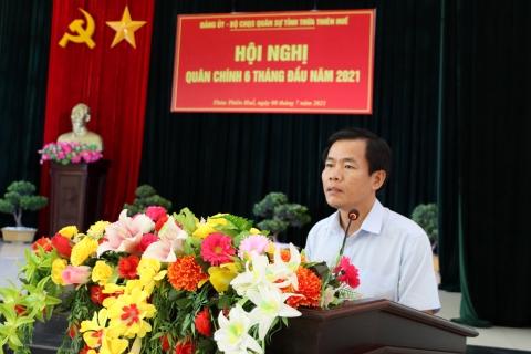 Ông Nguyễn Văn Phương, Phó Bí thư Tỉnh ủy, Chủ tịch UBND tỉnh phát biểu chỉ đạo hội nghị