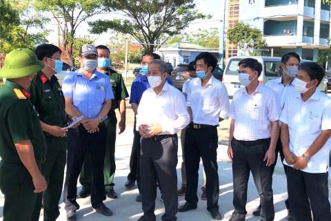 Phó Bí thư Thường trực Tỉnh uỷ Phan Ngọc Thọ kiểm tra tại Dự án mở rộng KCN Phú Bài giai đoạn III và giai đoạn IV