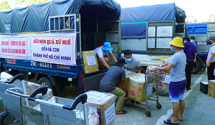 Vận chuyển hàng hóa cho hỗ trợ bà con Thừa Thiên Huế tại thành phố Hồ Chí Minh