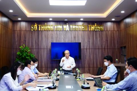 Phó Bí thư Thường trực Tỉnh ủy Phan Ngọc Thọ phát biểu tại buổi làm việc