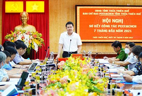 Phó Chủ tịch UBND tỉnh Hoàng Hải Minh phát biểu chỉ đạo tại Hội nghị
