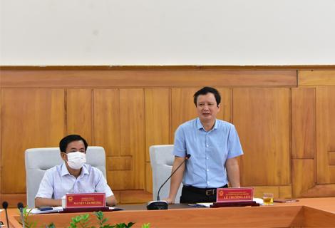 Bí thư Tỉnh ủy Lê Trường Lưu phát biểu tại cuộc họp